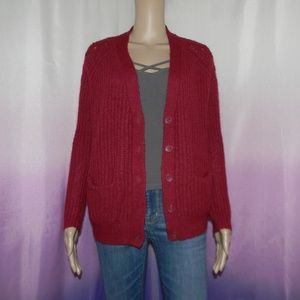 Urban Outfitters Red Cardigan